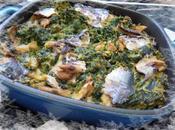 Gratin d'okara épinards filets sardines