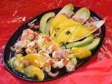 Salade scampis mangue light