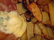 Grenadin veau, roquefort jambon