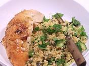 Poulet citron thym salade tiède boulgour
