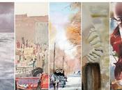 """Exposition """"Les maîtres l'aquarelle chinoise"""" septembre novembre 2011 Mairie 6ème arrondissement Paris"""