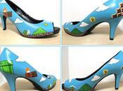 Mario, chaussure talons