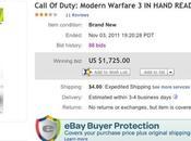 [insolite] modern warfare vendu 1725$