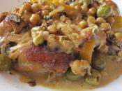 Tajine poulet citron olives,à crème