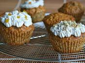 Muffins abricotés flocons d'avoine noix hachées