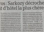 Rigueur, Sarkozy dépense euros chambre d'hôtel
