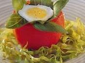 Tomates farcies œufs caille