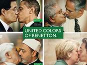 Benetton, nouvelle campagne publicité choc Nicolas Sarkozy embrasse Angela Merkel