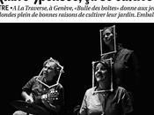 """#photo publiée dans Courrier"""" pour spectacle """"Bulle boîtes"""" #théâtre"""