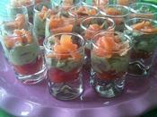 Verrine fraicheur tomate avocat saumon
