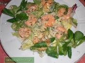 Petite salade scampis sauce creme l'estragon