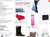 f-commerce Lacoste sort boutique Facebook