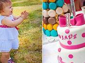 Wedding cake pois fuchsias