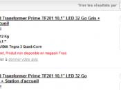 Asus Transformer Prime prix, date