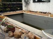 Piscine naturelle zone lagunage prête pour recevoir membrane d'étanchéité