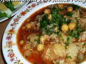 Topinambours sauce rouge (batata terfasse chtitha)