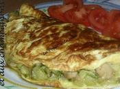 Omelette champignons courgettes