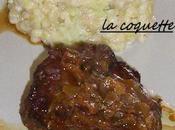 Risotto cotelettes d'agneau caramélisés oignons.