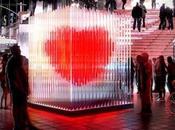 coeur dans Time Square pour Valentin