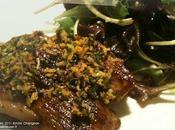 Tranches gigot d'agneau Gremolata menthe Mesclun vinaigrette agrumes