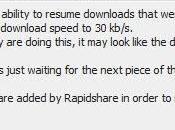 Rapidshare encore plus bridage pour utilisateurs premium