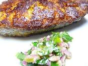 Capitaine frit avec salade d'oignons Fried Great African Threadfin with onion salad