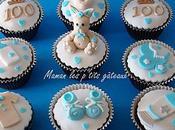 Cupcakes bébé garcon 100ème jour