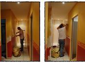 rénovation couloir, février 2012