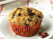 muffins (vegan) grenade, chocolat blanc flocons d'avoine