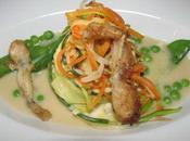 Gateau sandres grenouilles légumes saison