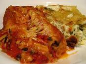 cannellonis, ricotta-épinards crème veau haché sauce tomates