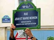 Compte rendu cérémonie pour l'inauguration baptème Jean-et-Marie-Moinon l'association Histoire Vies arrondissement Paris.