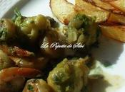 Choux bruxelles crevettes champignons