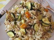 Risotto poulet légumes
