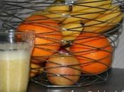 Smoothies pommes bananes oranges