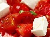 Salade chevre frais fraises
