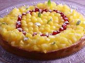 Tarte légère fromage blanc fruits exotiques avec pâte façon spéculoos