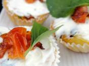 Cupcakes tomate, mozzarella basilic