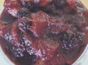 Compote mûres rhubarbe