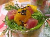 Tartare saumon pastel couleurs pour fête mères jours canicule