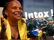 Désintox: Christiane Taubira drapeaux français