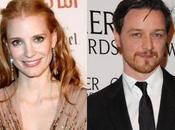 Jessica Chastain James McAvoy, mari femme dans Eleanor Rigby