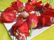 Tulipes farcies mousse fruits