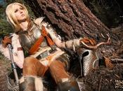 Skyrim féminin dans cosplay très réussi