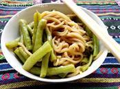 Nouilles mijotées haricots longs 豇豆焖面 jiāngdòu miàn