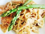 farfalle Fresh Attitude: pâtes asperges vertes, citron, poulet grillé