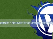 Comment Sauvegarder Restaurer contenu d'un blog WordPress?