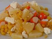 Salade surimi, ananas, maïs feta