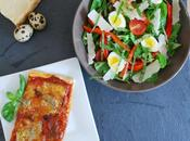 Salade pousses d'épinard pizza maison