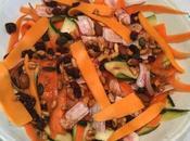 recette Salade Estivale rubans multicolores vinaigrette façon thaïe